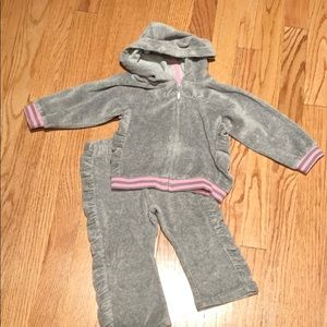 Other - Velour hoodie and pants size 18 months